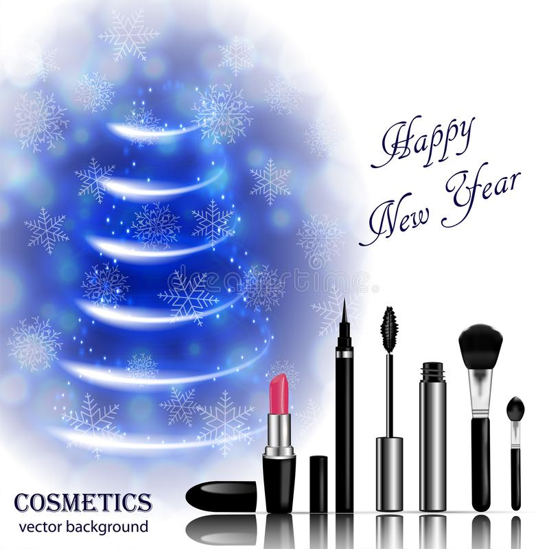 Christmas and New Year makeup kits stock images