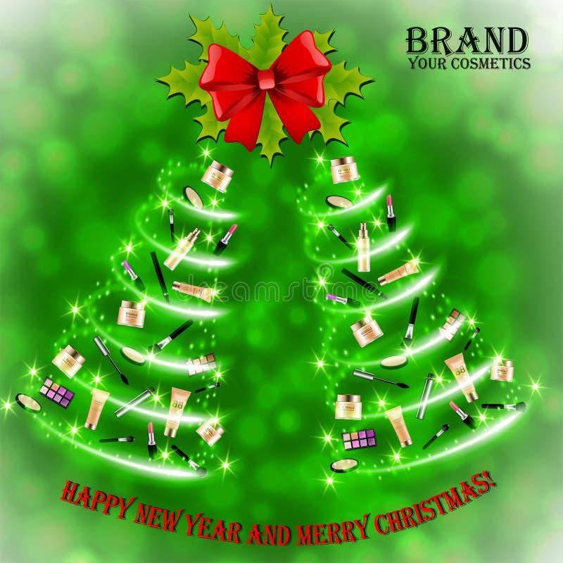 Christmas and New Year makeup kits royalty free stock photography