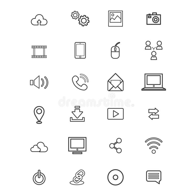 Business technology icon. Logo design vector template royalty free illustration