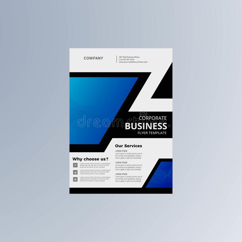 Business technology flyer template vector. Background stock illustration