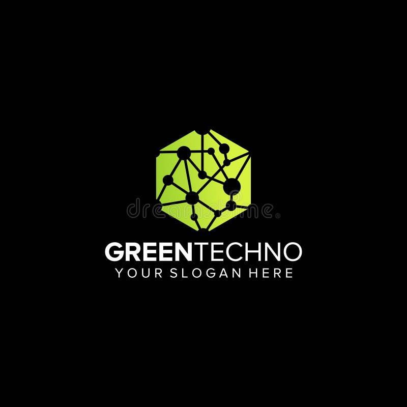 Green technology logo design vector. Template vector illustration