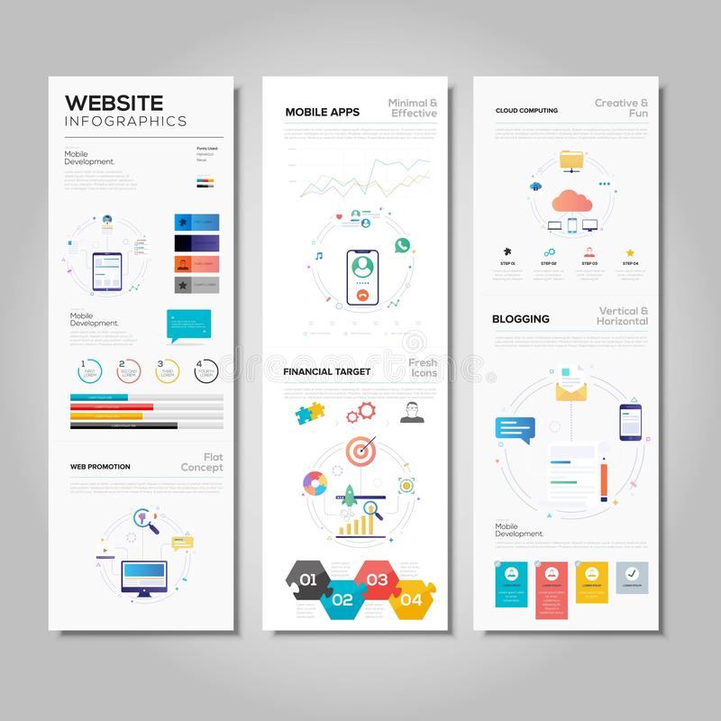 Business website infographic template vector. Background vector illustration