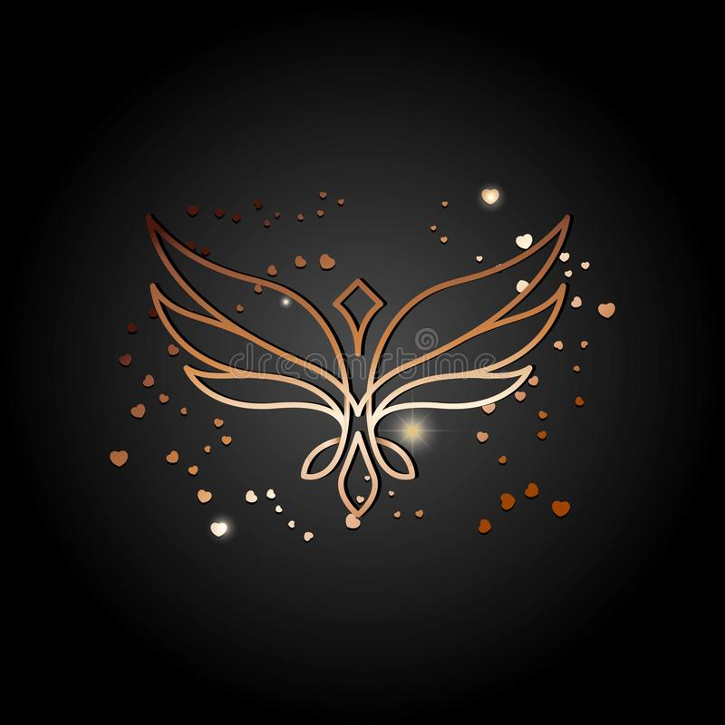 Eagle On The Abstract Mystical Background. Vector Stock