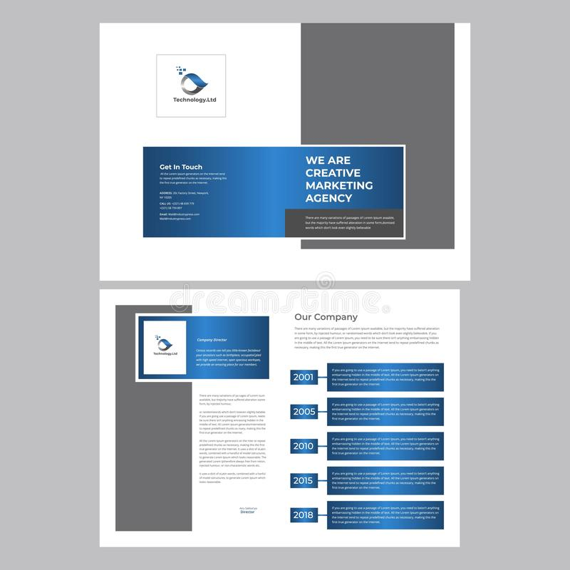 Business flyer template royalty free illustration