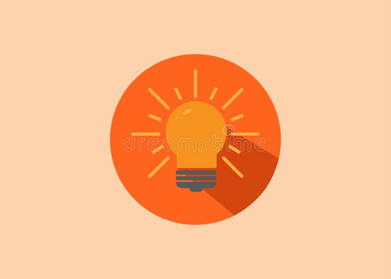 Flat design style bulb idea vector icon. Flat design style bulb idea vector stock illustration