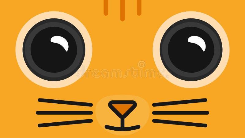 Cartoon Face Cat Wallpaper Stock Illustration Illustration Of Illustration 76356759