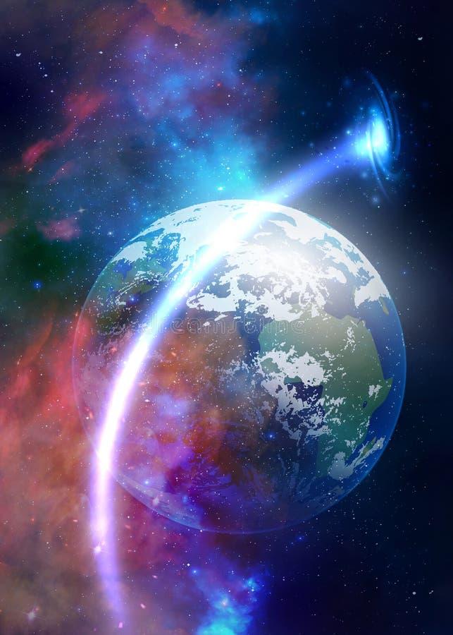 Spiritual love healing earth energy, power, diamond heart grid, evolution, transformation royalty free stock image