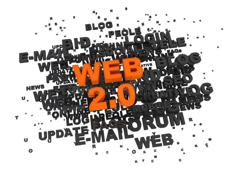 Web 2.0 illustration stock