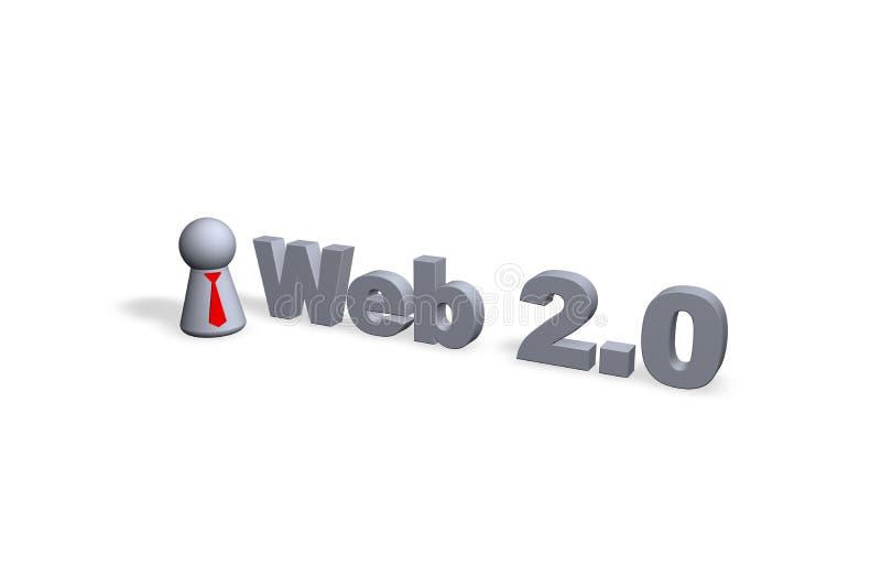 Web 2.0 illustrazione di stock