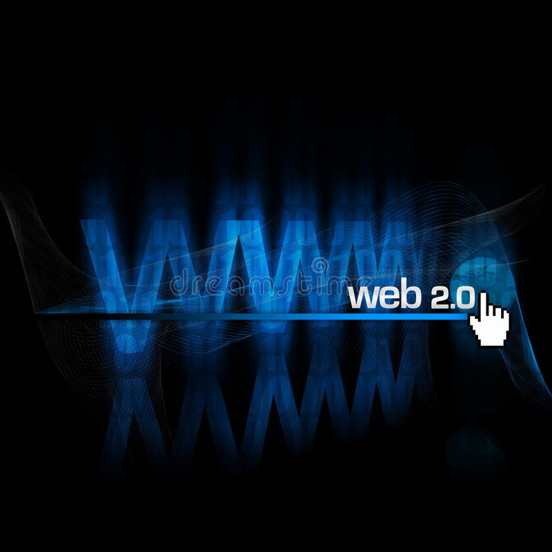 Web 2.0 vector illustratie