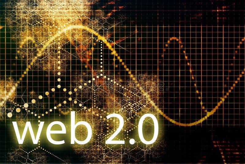 Web 2.0 ilustração royalty free