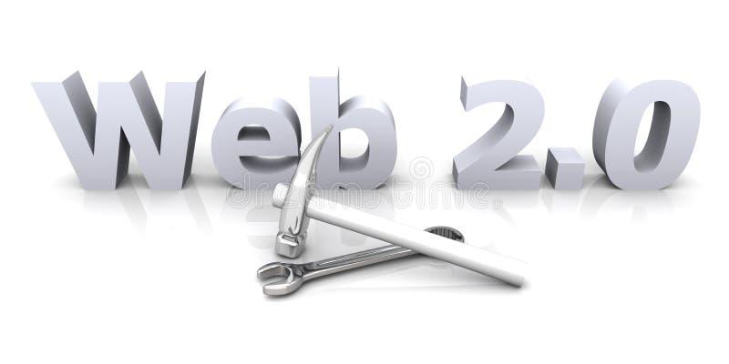Web 2.0 - in aanbouw stock illustratie