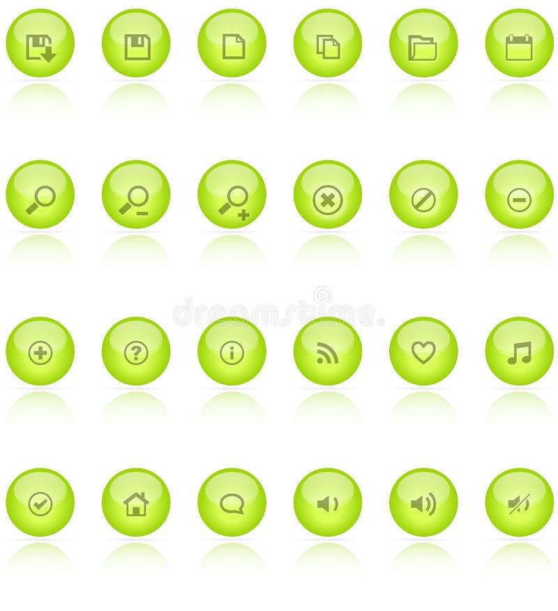 Web 2.0 Aquaikonen lizenzfreie stockbilder