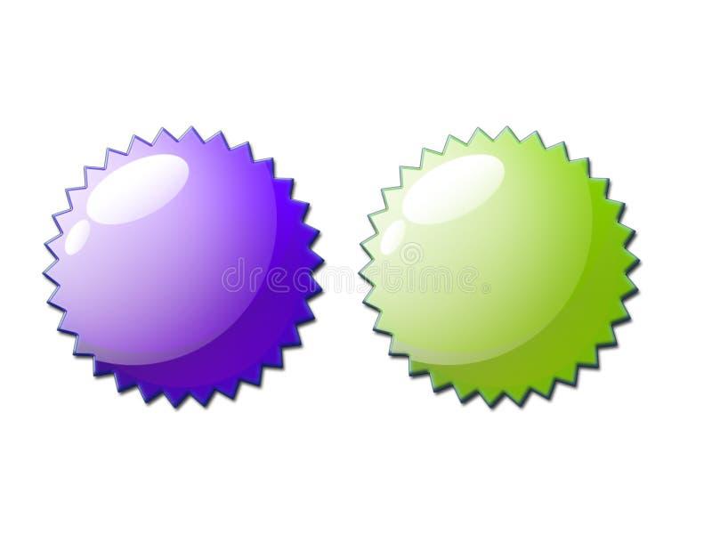 Web 2.0 Bescheinigungs-Dichtungs-Paare stockfotografie