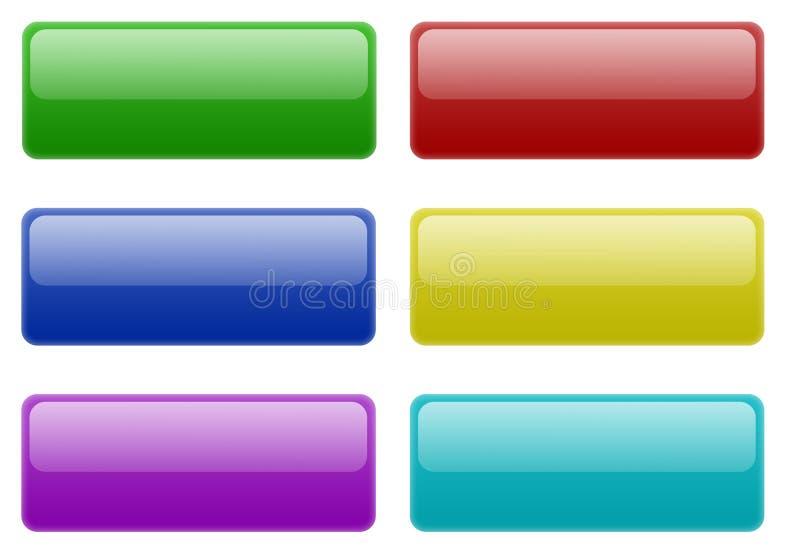 Web 2.0 botones foto de archivo