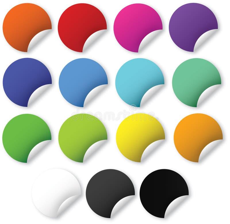 Web 2.0 bright stickers stock illustration