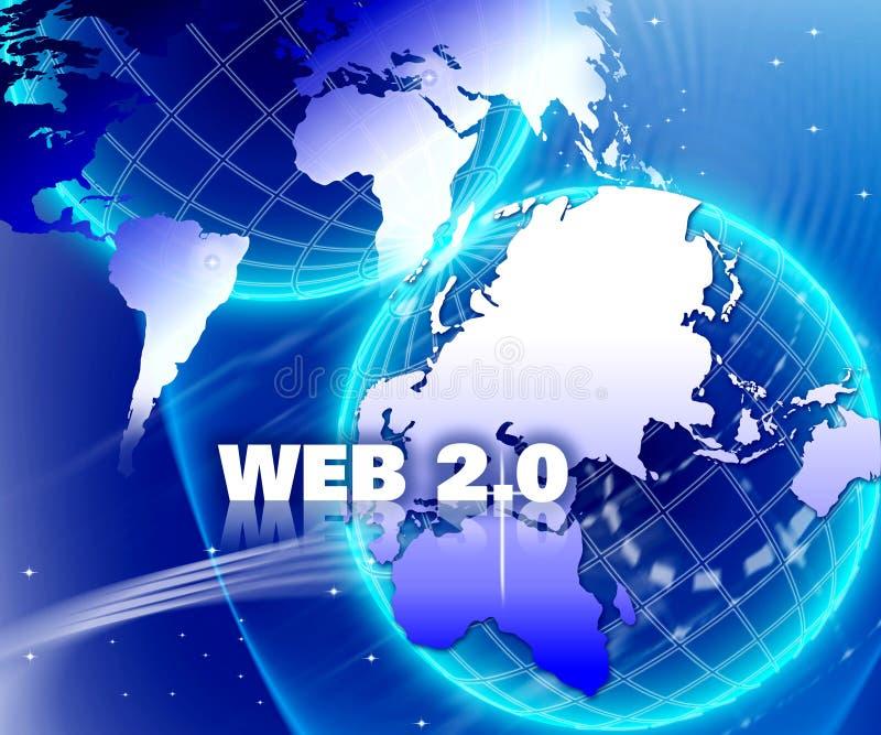 Web 2.0 do Internet do mundo ilustração stock