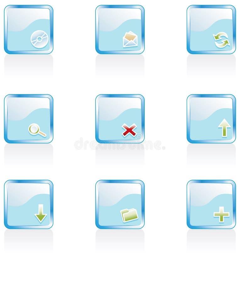 Web 2.0 Ikonen lizenzfreie abbildung