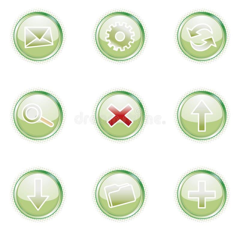 Web 2.0 Ikonen, Set lizenzfreie abbildung