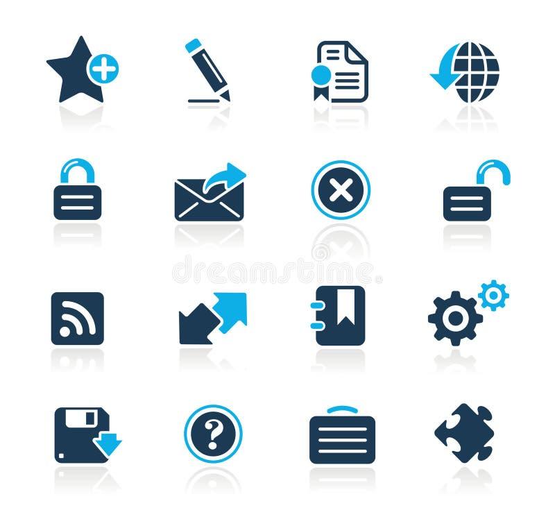 Web 2.0 serie di azzurro di // illustrazione vettoriale