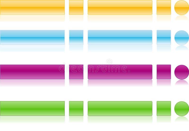 Web 2.0 Tasten mit Reflexion lizenzfreie stockfotografie