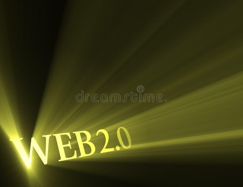 Web 2.0 versie lichte gloed stock illustratie