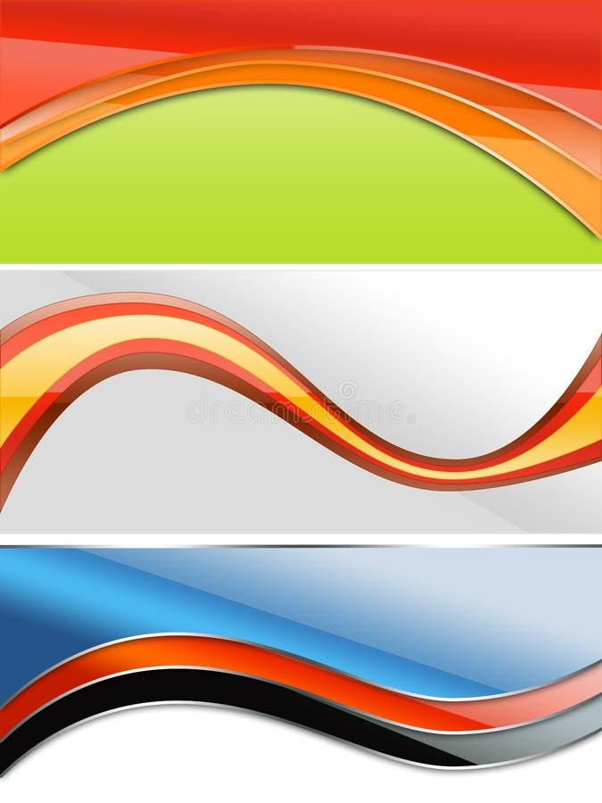 Web 2 drapeaux illustration libre de droits