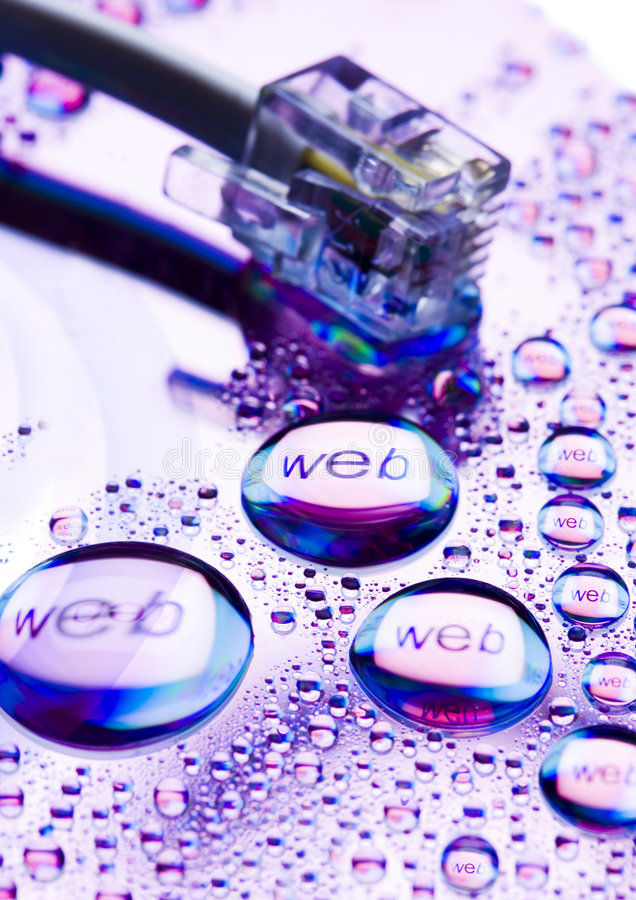 Web. Internet symbols are very popular and they are recognisable all over the world stock images