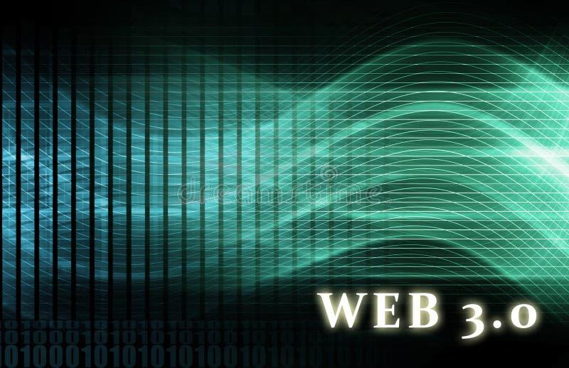 Web 3.0 ilustração stock