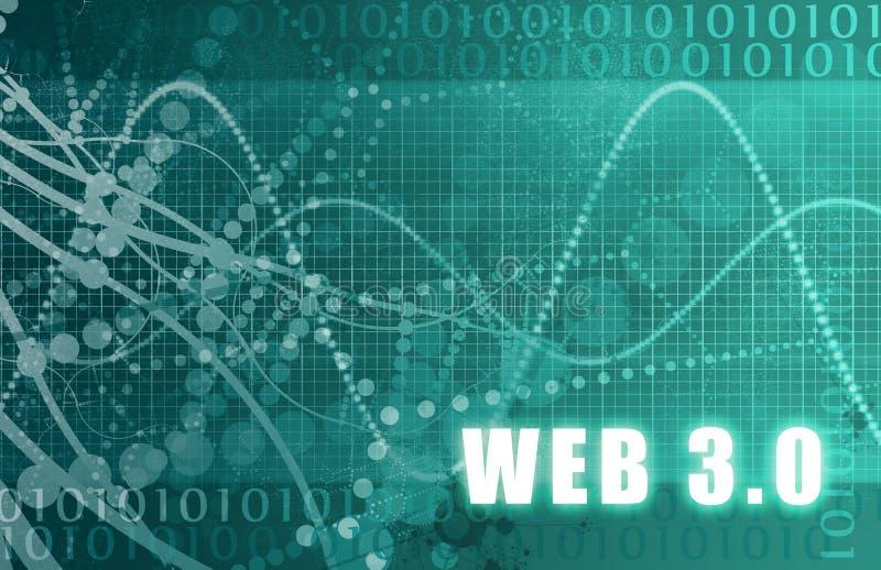 Web 3.0 illustrazione vettoriale