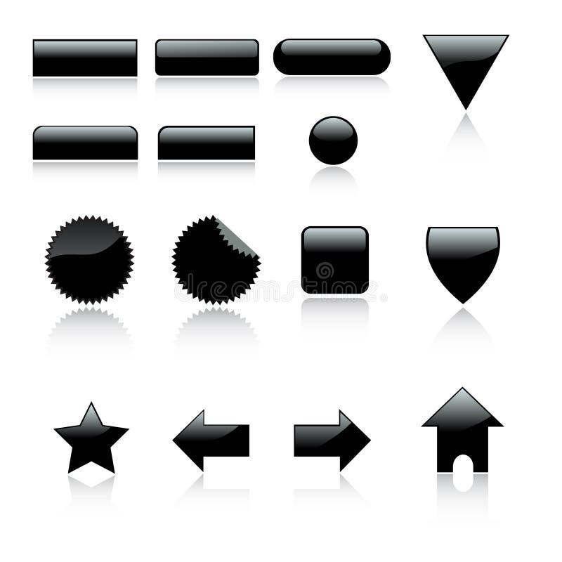 Web 3d 2 graphismes réglés avec le reflec illustration de vecteur