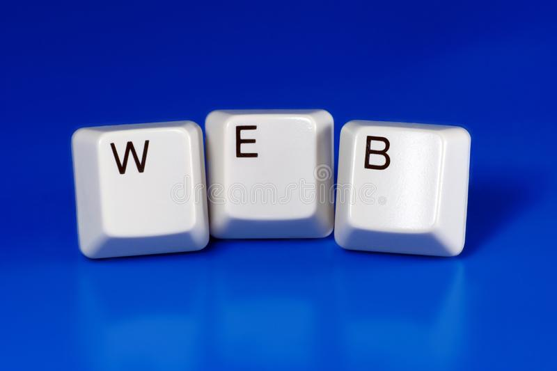 Web. Written with keyboard keys stock photo