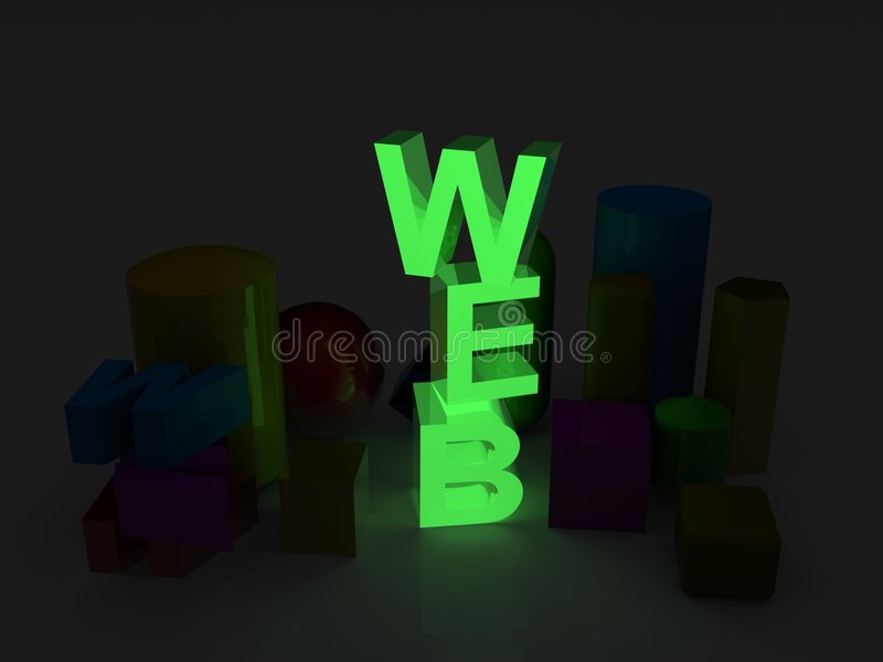 Download Web stock illustration. Image of glow, neon, dimensional - 9196018