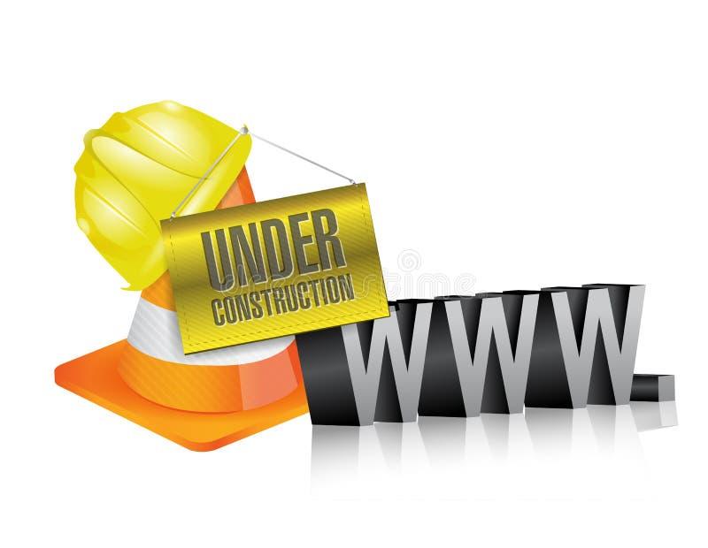Web in aanbouw www stock illustratie