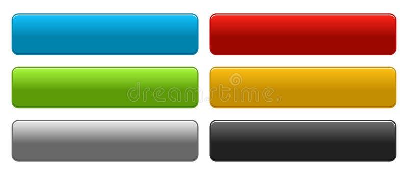A Web abotoa-se colorido no branco ilustração do vetor