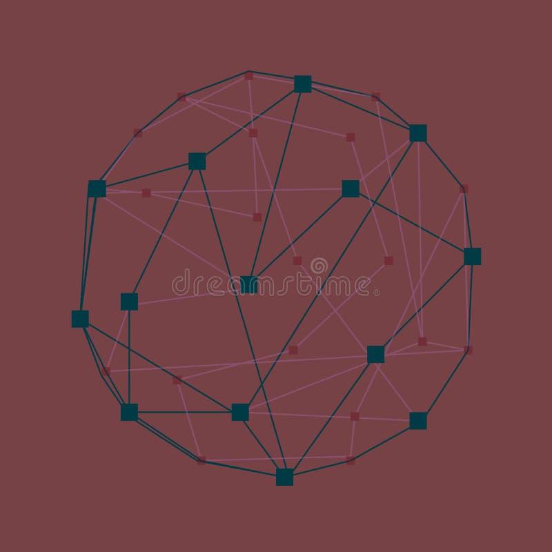 web Abstracte 3d geometrische kleurrijke achtergrond royalty-vrije illustratie