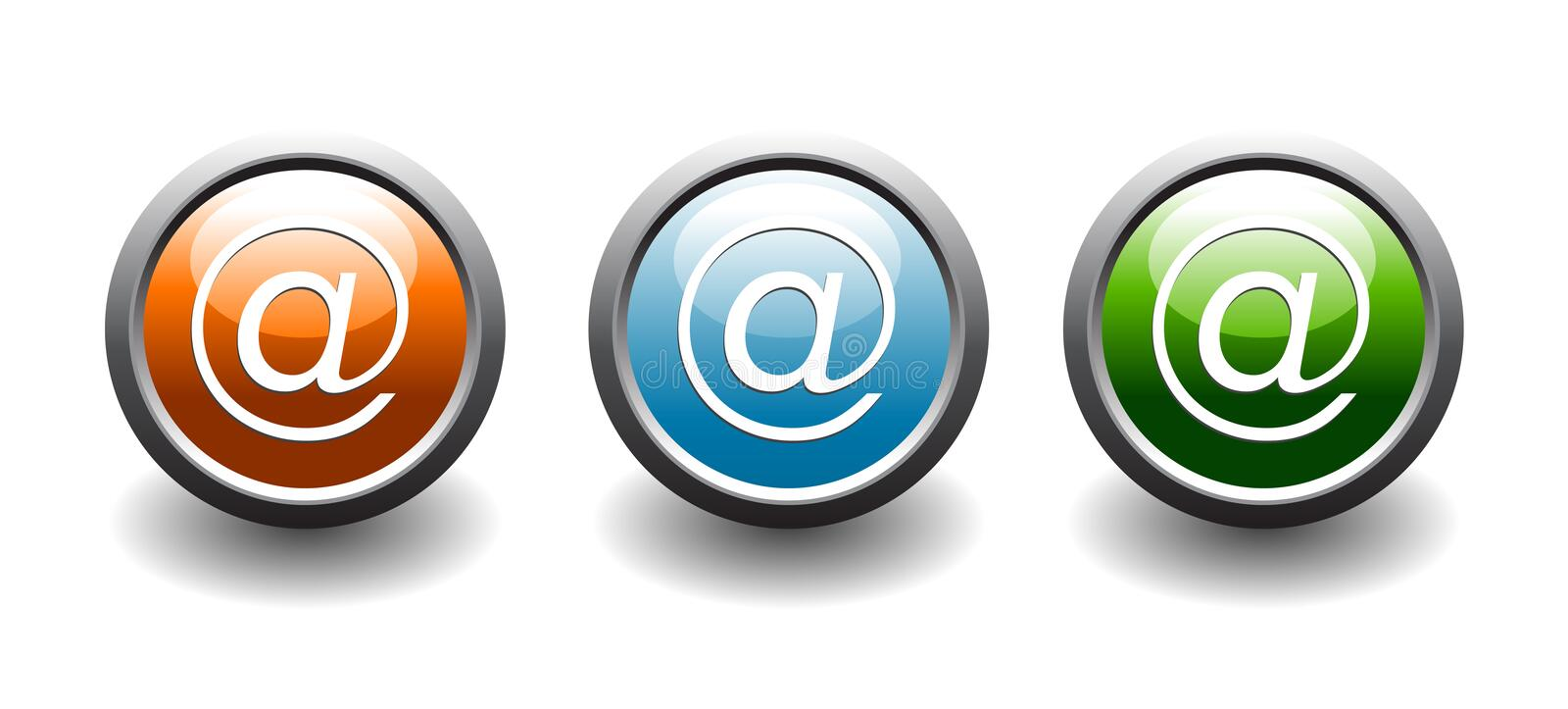 Web address button icons. In 3 color options vector illustration