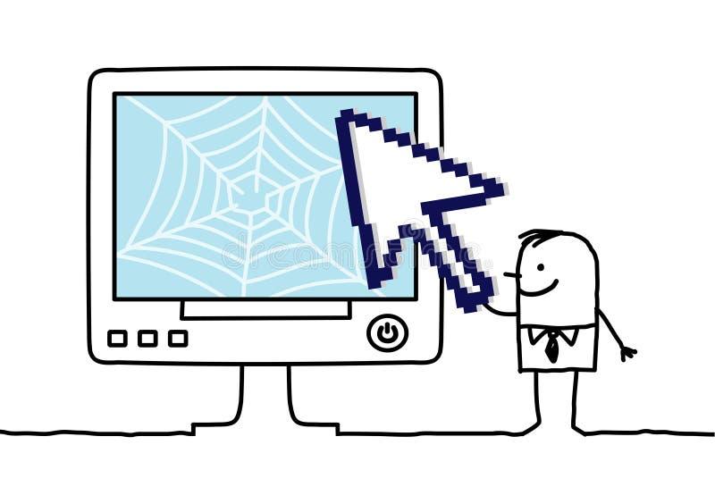 Web & seta ilustração stock