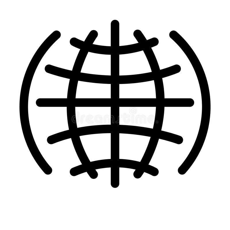 Web ancha WWW, tierra, ubicación de la palabra del icono del vector libre illustration