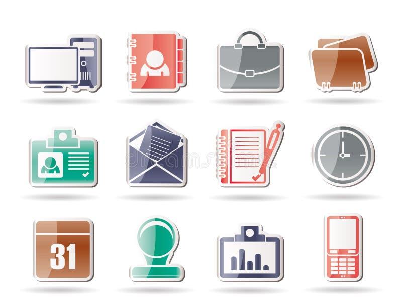 Web-Anwendungs-, Geschäfts- und Büroikonen vektor abbildung