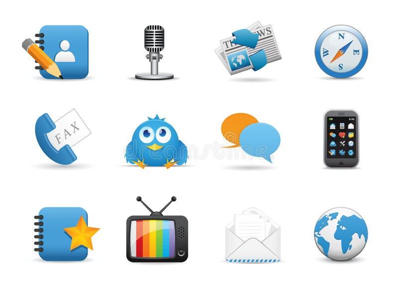Web application icons stock image