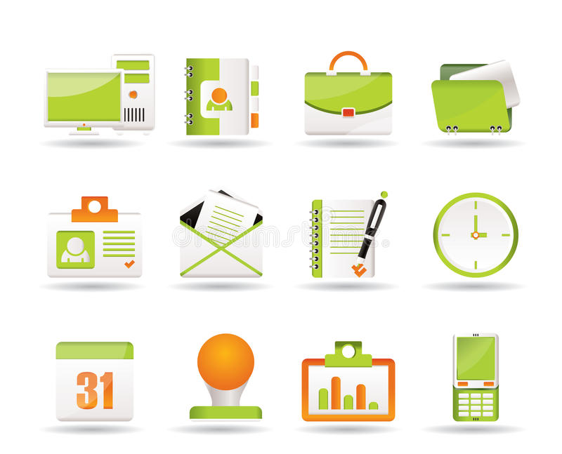 Web Applications,Business and Office icons vector illustration