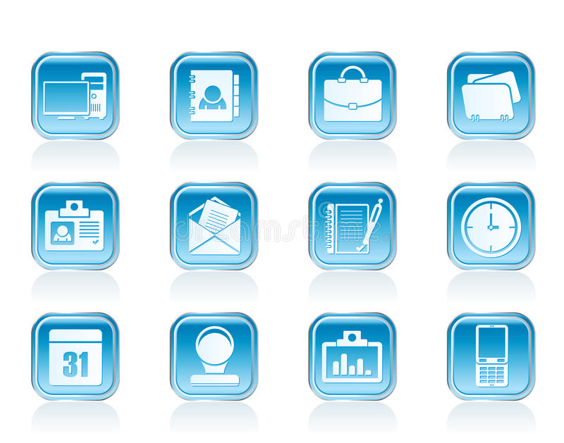 Web Applications,Business and Office icons, Universal icons stock illustration