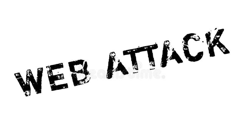 Web Attack rubber stamp. Grunge design with dust scratches. Effects can be easily removed for a clean, crisp look. Color is easily changed vector illustration