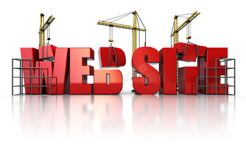 Web-Aufbau vektor abbildung