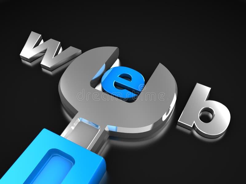 Web-Auslegung lizenzfreie abbildung