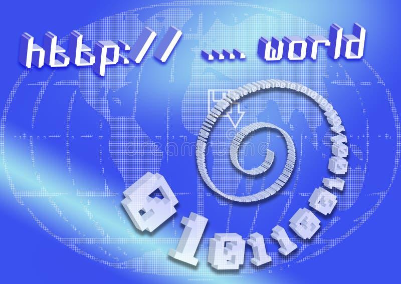 Web-Auslegung 44 stock abbildung