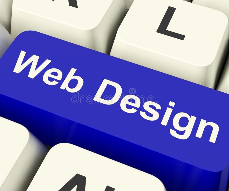 Web-Auslegung-Computer-Taste lizenzfreie abbildung