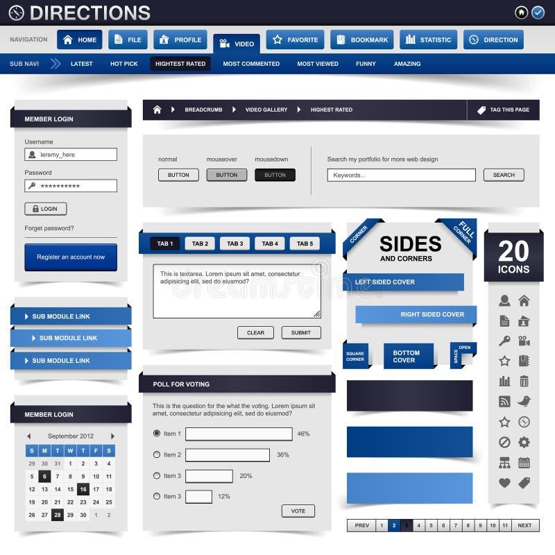 Web-Auslegung-Element lizenzfreie abbildung