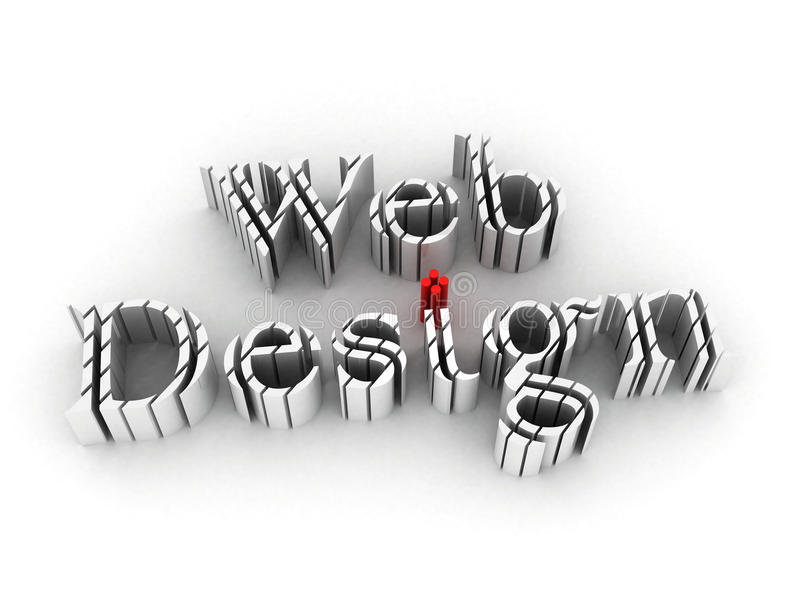 Web-Auslegung für Web site lizenzfreie abbildung